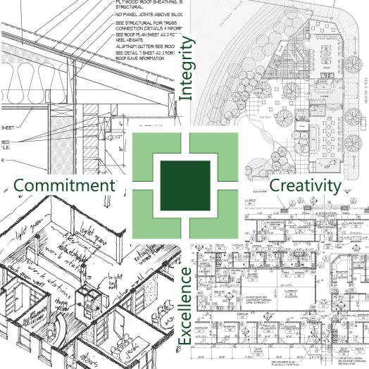 Quadrant Design details, presentation drawings, sketches